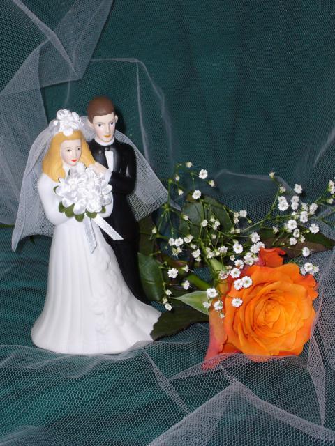 Porzellan-Brautpaar klein (#50)