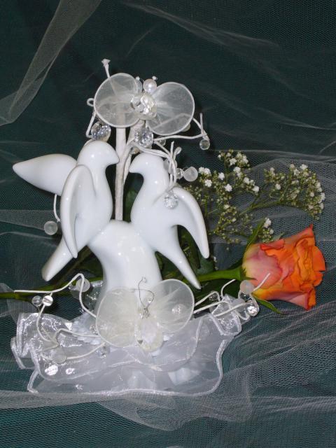 Hochzeitstauben aus Porzellan (#65)